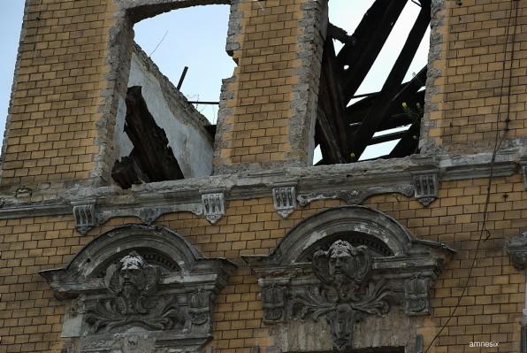 Façade d'immeuble à détruire
